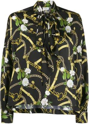 2143eed00304da Liu Jo belt and chain print blouse