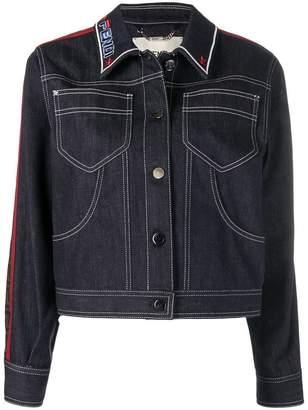 Fendi logo patch denim jacket