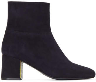 Jil Sander Navy Navy Suede Almond Toe Boots
