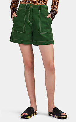 Land of Distraction Women's Leo Corduroy Shorts - Green