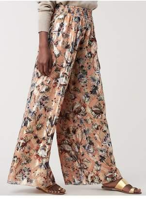 Diane von Furstenberg Birdie Silk Wide-Leg Pants