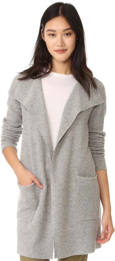James Perse James Perse Thermal Stitch Cashmere Cardigan