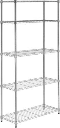 Honey-Can-Do 5 Tier Chrome Storage Shelves 90Kgs