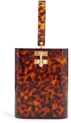 Edie Parker Oval Acrylic Bucket Bag