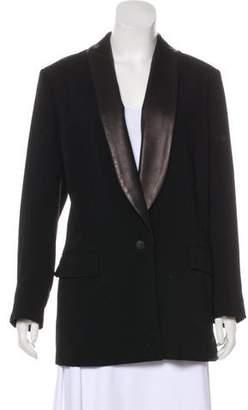 Rag & Bone Leather-Trimmed Short Coat