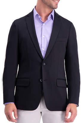 Haggar In Motion Knit Blazer Slim Fit Woven Sport Coat