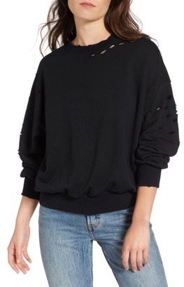 Women's Soprano Holey Sweatshirt $39 thestylecure.com