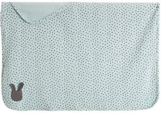 bonniemob Bunny Silhouette Baby Blanket, Blue