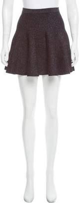 Ronny Kobo Flared Knit Mini Skirt