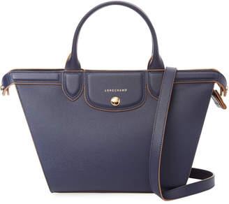 Longchamp Le Pliage Heritage Medium Leather Top Handle Tote