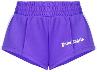 Palm Angels cropped side stripe track shorts