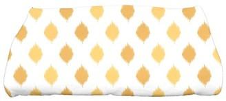 "E By Design Simply Daisy 28"" x 58"" Ikat Dot Stripes Geometric Print Bath Towel"