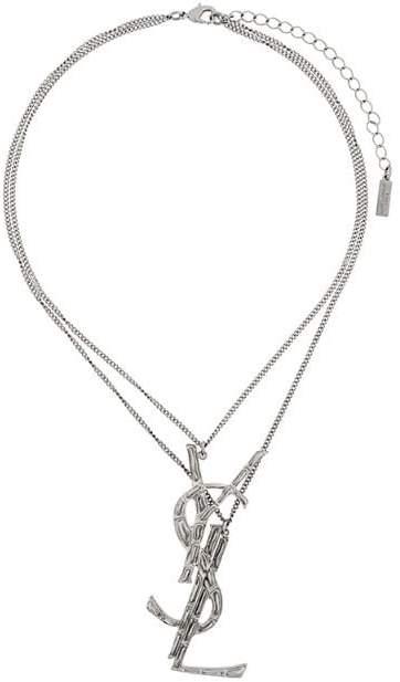logo plaque necklace