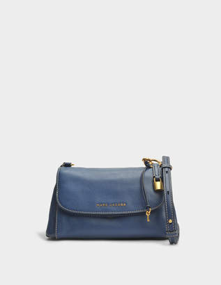 Marc Jacobs Boho Grind Crossbody Bag in Blue Sea Cow Leather