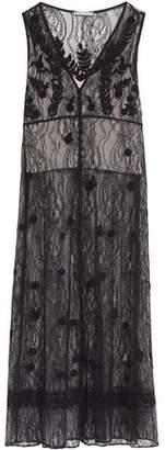Alice + Olivia Alice+olivia Fluted Lace Midi Dress
