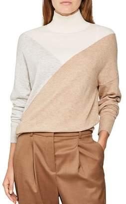 Reiss Divinity Color-Blocked Turtleneck Sweater
