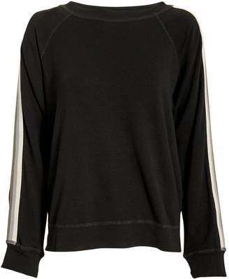 Monrow Supersoft Striped Raglan Sweatshirt