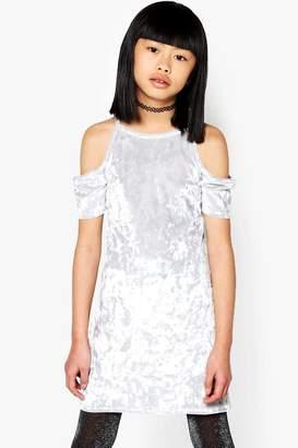 boohoo Girls Cold Shoulder Valore Bodycon Dress