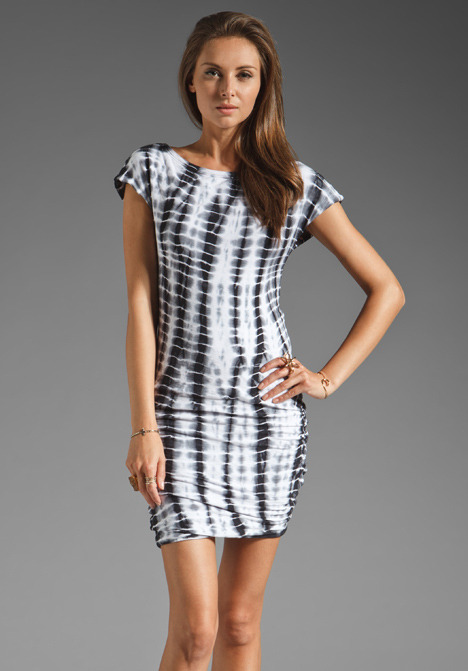 James Perse Dyed Boatneck Cap Sleeve Dress