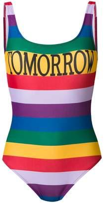Alberta Ferretti Tomorrow rainbow stripe swimsuit