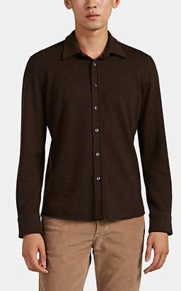 Fioroni Men's Knit Cashmere Shirt - Brown