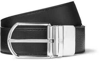 Dunhill 3.5cm Black And Midnight-Blue Reversible Full-Grain Leather Belt