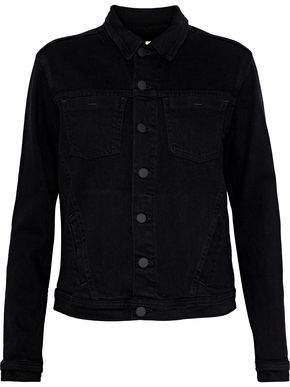 L'Agence Celine Embellished Denim Jacket