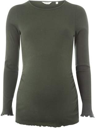 Dorothy Perkins Womens **Maternity Green Long Sleeve Lettuce T-Shirt