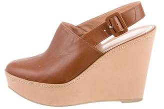 Robert Clergerie Clergerie Paris Leather Platform Wedges