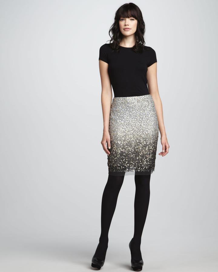 Renzo and Kai Sequined Mesh Skirt