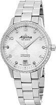 Alpina Comtesse自動Ladiesステンレススチール34 mm母のパールダイヤモンドスイス時計al-525apw3cd6b
