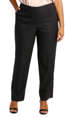 Houndstooth Straight Leg Suit Pant