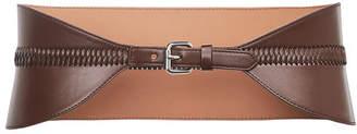 BCBGMAXAZRIA Faux-Leather Whipstitch Waist-Belt