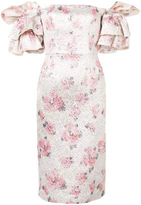 ALEXACHUNG Alexa Chung floral puff-sleeve dress