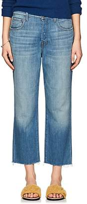 J Brand Women's Ivy High-Rise Crop Jeans - Blue
