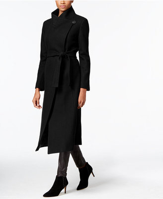 Kenneth Cole Wool-Blend Maxi Wrap Coat $360 thestylecure.com