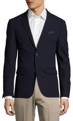 Sand Slim-Fit Wool Textured Blazer
