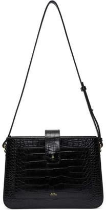 A.P.C. Black Croc Albane Bag