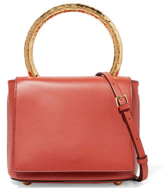 Marni Pannier Leather Shoulder Bag - Tomato red