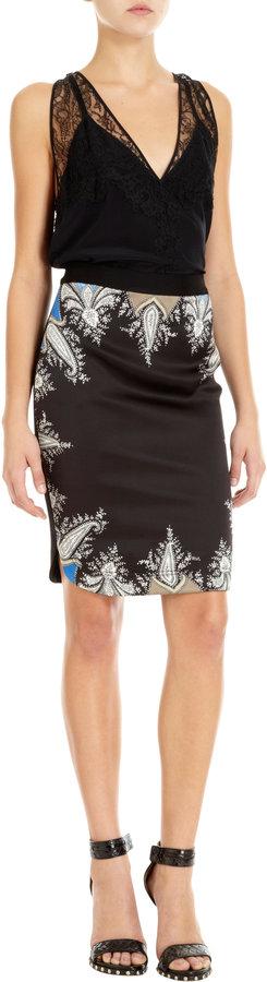 Givenchy Paisley Trim Skirt