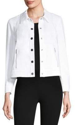 Lafayette 148 New York Sage Cropped Jacket