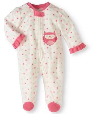 Bon Bebe Newborn Baby Girl Footed Microfleece Blanket Sleeper Pajamas