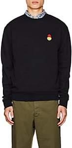 Ami Alexandre Mattiussi Men's Smiley-Patch Cotton Terry Sweatshirt-Navy