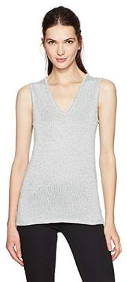 Calvin Klein Women's Lurex V-Neck Shell