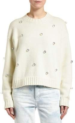 Alanui Below Zero Drop-Shoulder Studded Sweater
