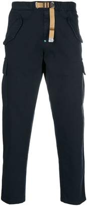 White Sand belted straight-leg trousers