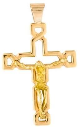 18K Crucifix Pendant yellow 18K Crucifix Pendant