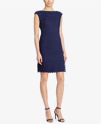 Lauren Ralph Lauren Geometric-Lace Dress $170 thestylecure.com