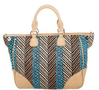 Tiffany & Co. Leather-Trimmed Woven Tote