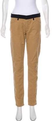 Mother Mid-Rise The Looker Prep Scoop Skinny Pants